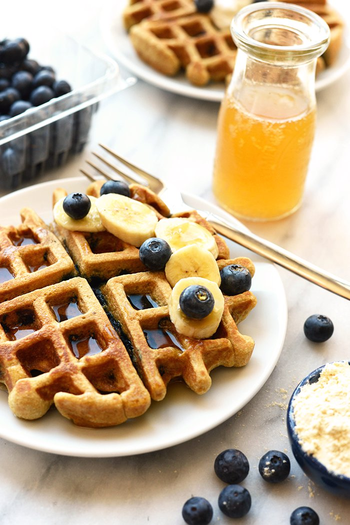 Healthy Blueberry Waffles