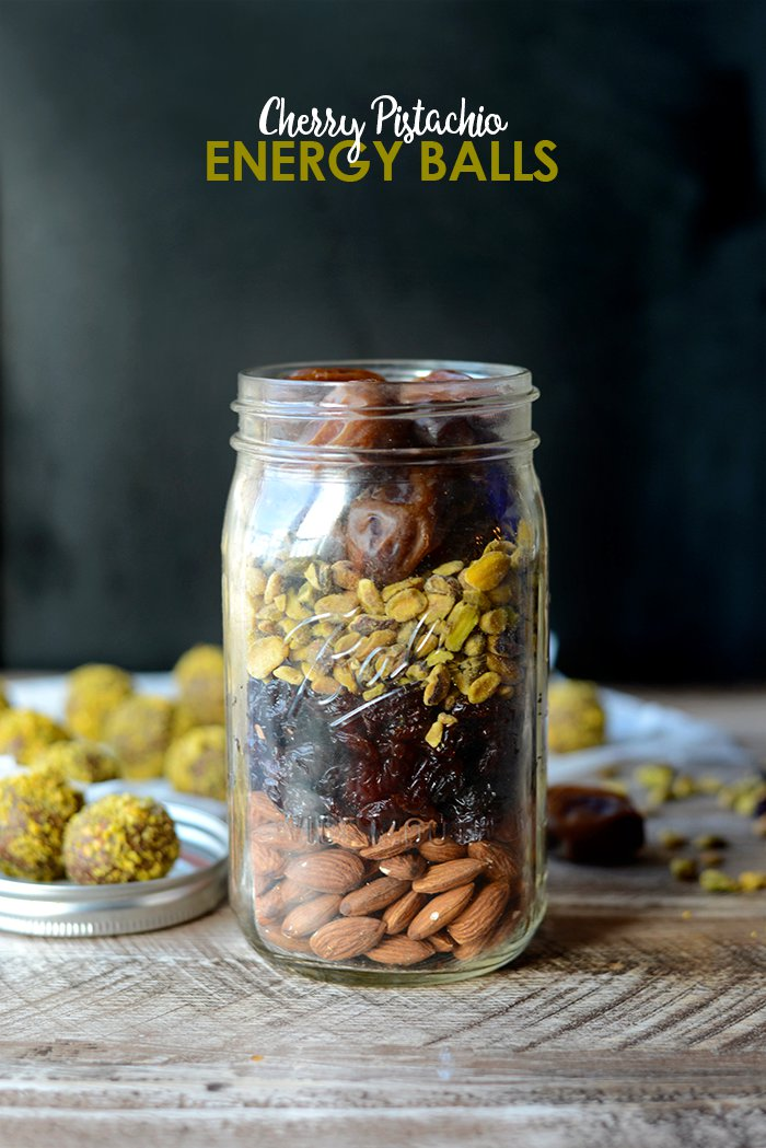 DIY Holiday in a Jar: Cherry Pistachio Energy Balls