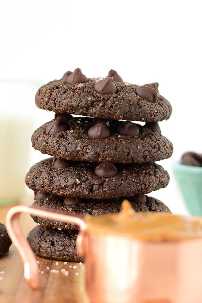 VIDEO: Double Chocolate Flourless Peanut Butter Cookies