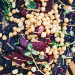 Warm Red Cabbage and Beet Salad with Chickpeas, Tamari and Lime