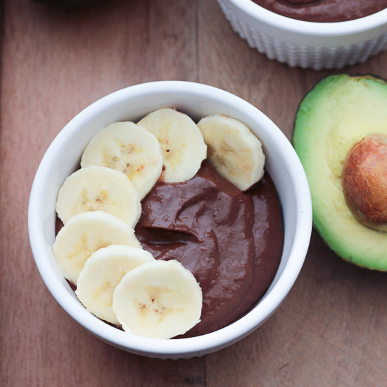 Vegan Avocado Banana Chocolate Pudding