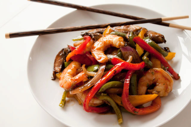 15 Minute Ginger Shrimp Stir Fry