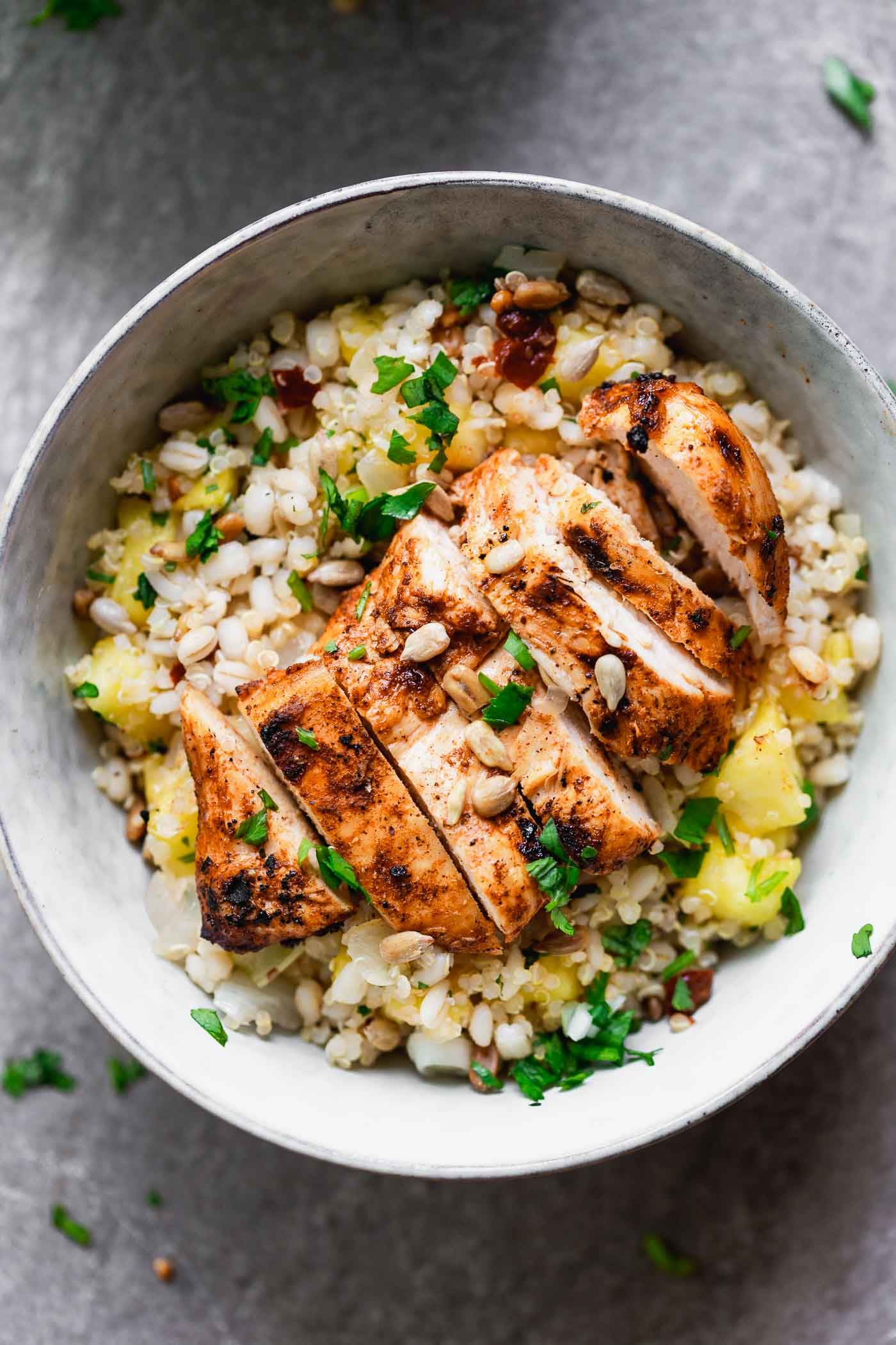 Chipotle Chicken and Pineapple Bowls