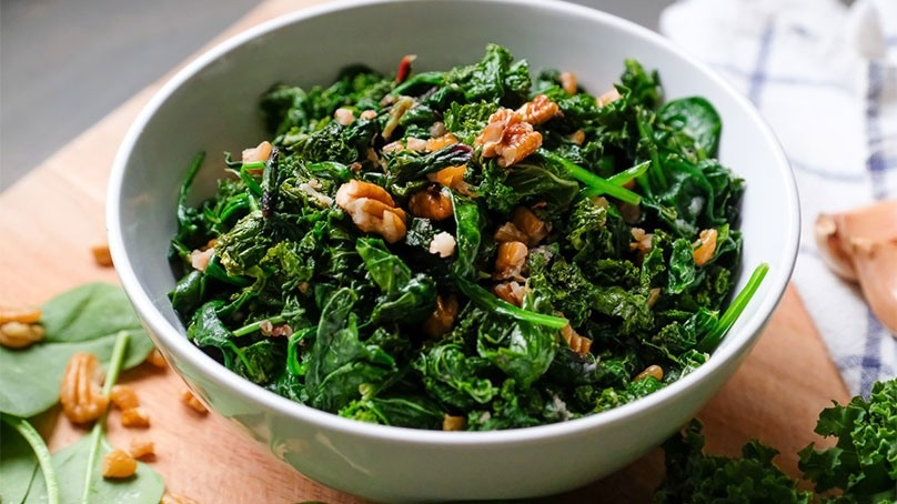 Chynna Sauteed Spinach with Garlic